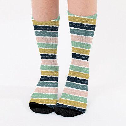 - El Yazılı Tasarım Kadın Çorabı