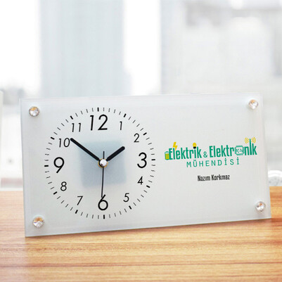 - Elektronik Mühendislerine Özel Cam Masa Saati