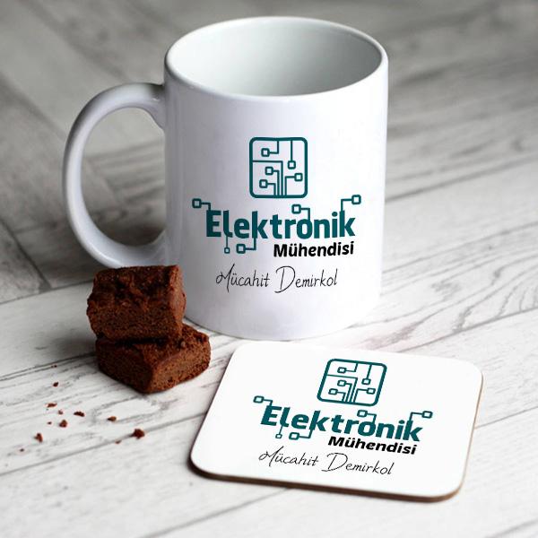 Elektronik Mühendislerine Özel Kupa Ve Bardak Altlığı