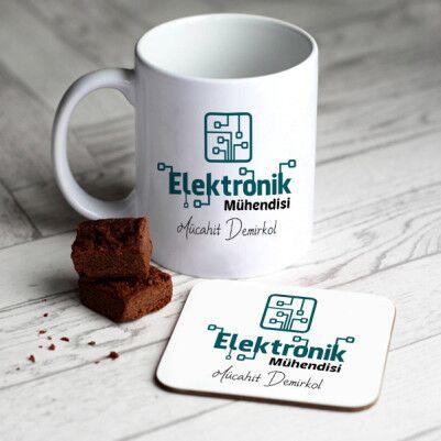 - Elektronik Mühendislerine Özel Kupa Ve Bardak Altlığı