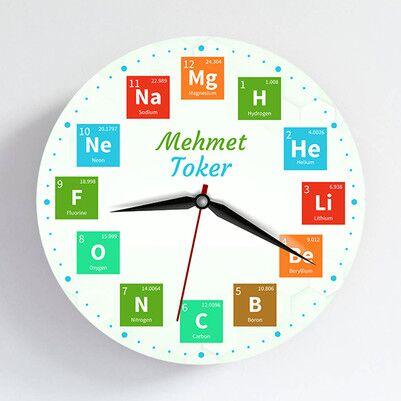 - Elementler İsme Özel Duvar Saati