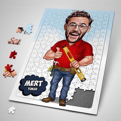 - Elinden Her İş Gelen Erkek Karikatürlü Puzzle