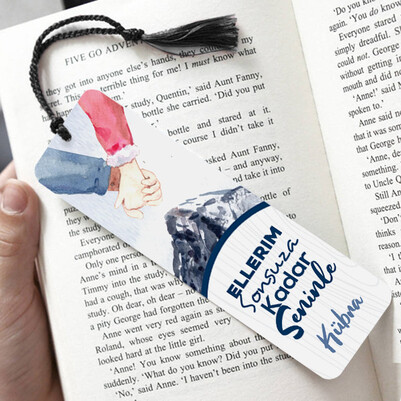 - Ellerimiz Ayrılmasın Temalı Kitap Ayracı