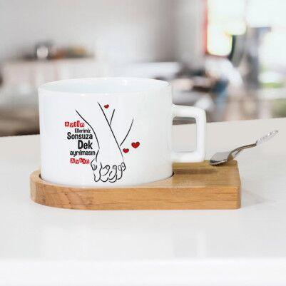 - Ellerimiz Hiç Ayrılmasın Lüks Çay Fincanı