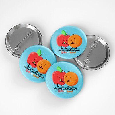 - Elma ve Portakal Arkadaşlığı Buton Rozet