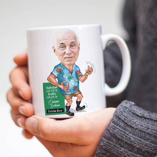 Emekli Babam Karikatürlü Kupa Bardak