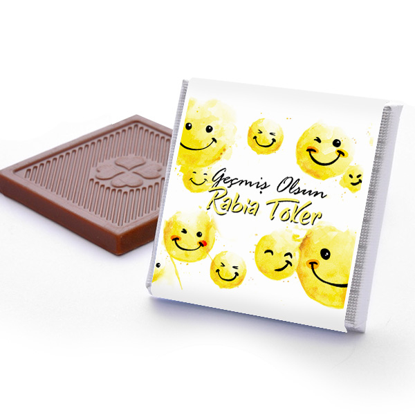 Emoji Geçmiş Olsun Çikolatası