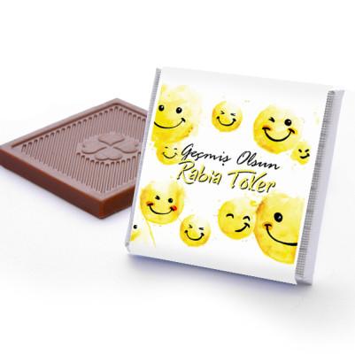 Emoji Geçmiş Olsun Çikolatası - Thumbnail