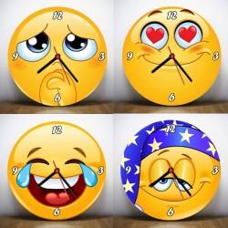 - Emoji Tasarımlı Duvar Saatleri
