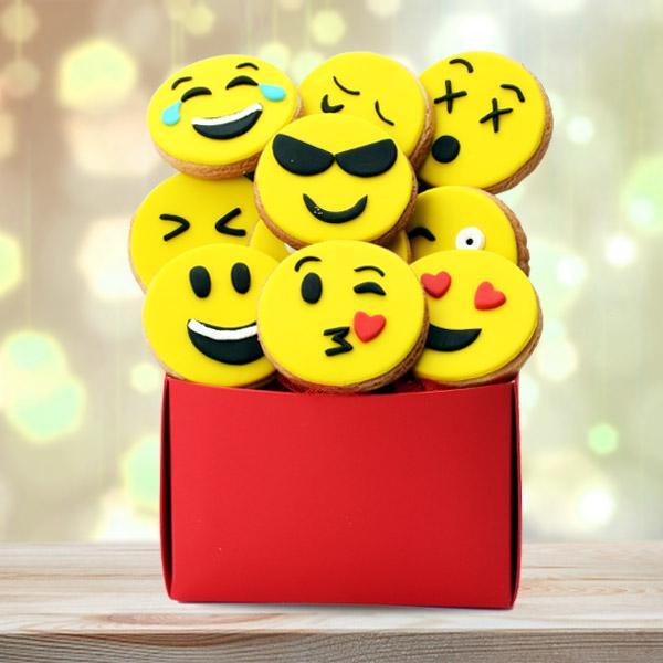 Emoji Tasarımlı Sempatik Butik Kurabiyeler