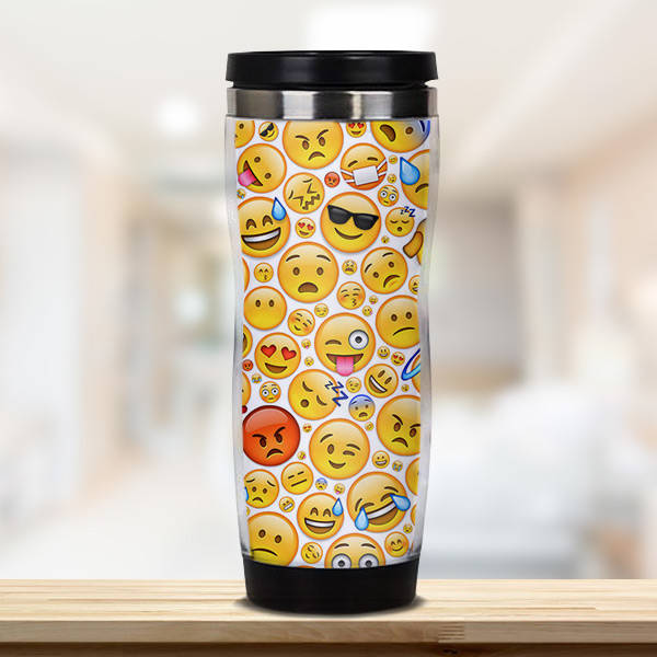 Emoji Tasarımlı Termos Bardak