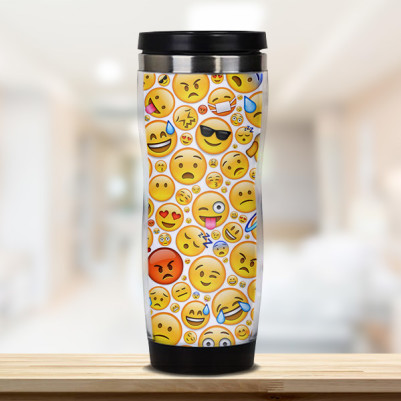 - Emoji Tasarımlı Termos Bardak