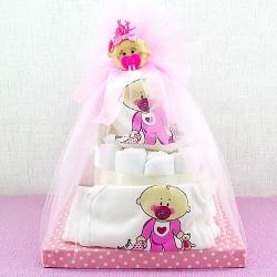 - Emzikli Bebek Bezi Pastası Hediye Sepeti
