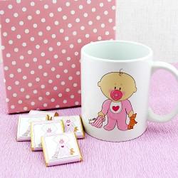 - Emzikli Kız Bebek Çikolatası ve Kupa Bardak