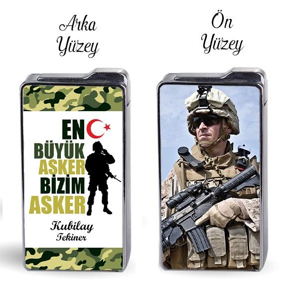 En Büyük Asker Bizim Asker Fotoğraflı Çakmak