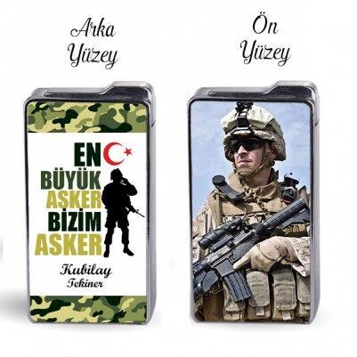 - En Büyük Asker Bizim Asker Fotoğraflı Çakmak