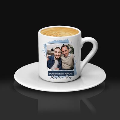 En İyi Amca Fotoğraflı Kahve Fincanı - Thumbnail