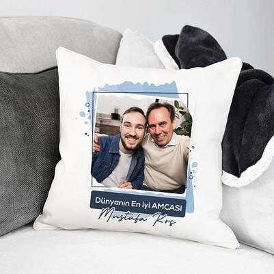 - En İyi Amca Fotoğraflı Yastık