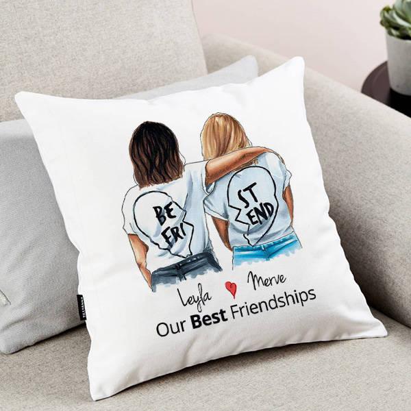 En İyi Arkadaşım İsimli Yastık
