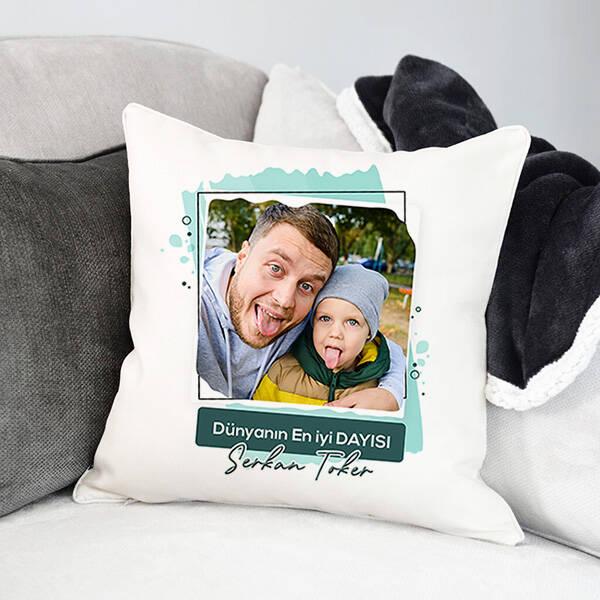 En İyi Dayı Fotoğraflı Yastık