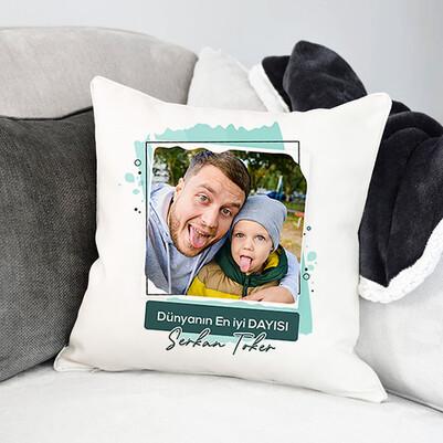 - En İyi Dayı Fotoğraflı Yastık