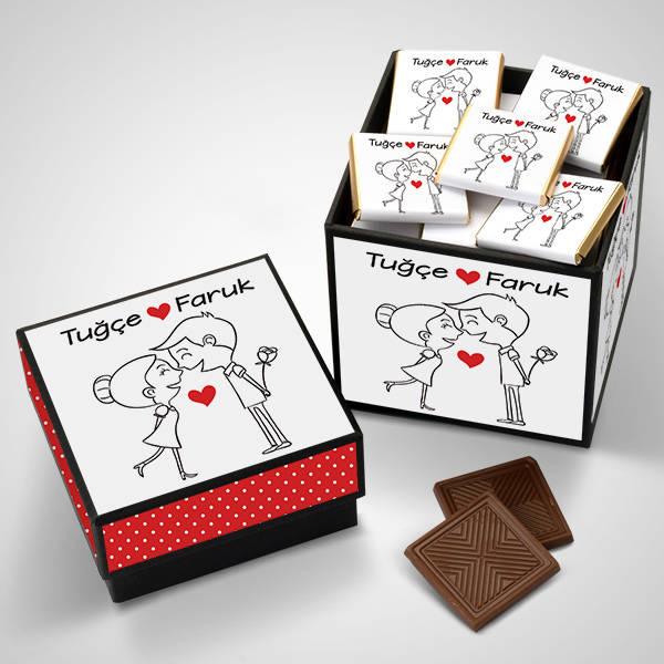 En Tatlı Aşıklar Çikolata Kutusu