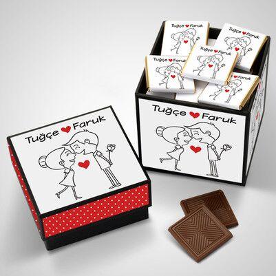 En Tatlı Aşıklar Çikolata Kutusu - Thumbnail
