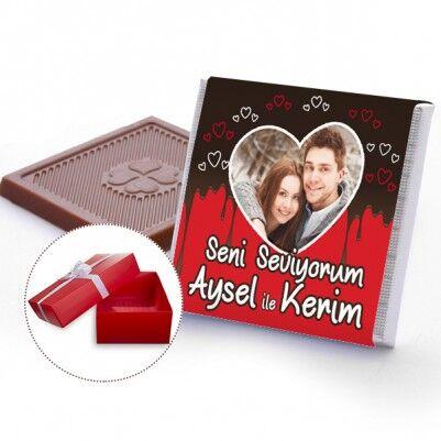 - En Tatlı Sevgili Fotoğraflı Çikolatalar
