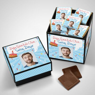 Erkeğe Çikolatalı Doğum Günü Kutusu - Thumbnail