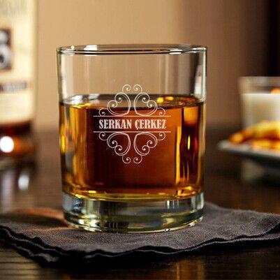 - Erkeğe Hediye İsme Özel Viski Bardağı
