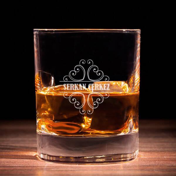 Erkeğe Hediye İsme Özel Viski Bardağı