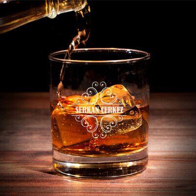 Erkeğe Hediye İsme Özel Viski Bardağı - Thumbnail