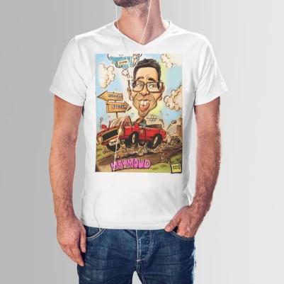- Erkeğe Özel Karikatür Baskılı Tişört