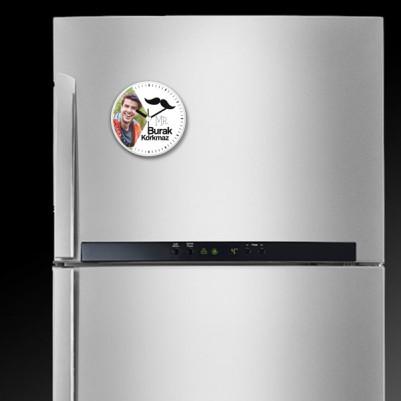 Erkeğe Özel Saatli Buzdolabı Magneti - Thumbnail