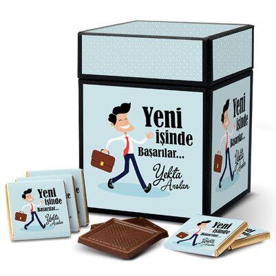 - Erkeğe Yeni İşinde Başarılar Dilerim Çikolatası