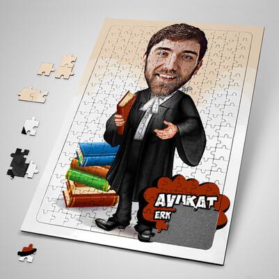 - Erkek Avukata Özel Karikatürlü Puzzle