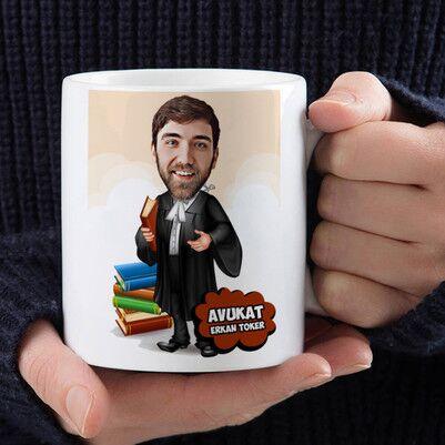 - Erkek Avukatlara Özel Karikatürlü Kupa Bardak
