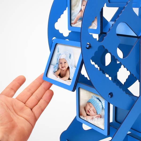 Erkek Bebeğe Özel Dönme Dolap Fotoğraf Çerçevesi