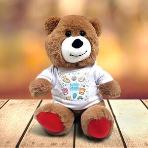 Erkek Bebeğe Özel İsimli Pelüş Ayıcık - Thumbnail