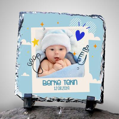 - Erkek Bebeklere Hediye Fotoğraflı Taş