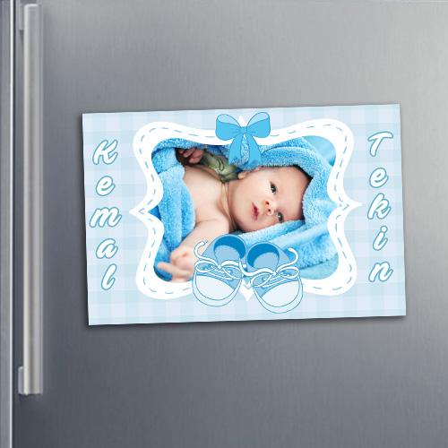 Erkek Bebeklere Özel Buzdolabı Magneti