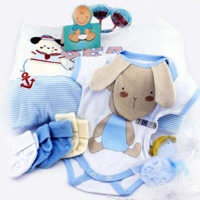 Erkek Bebeklere Özel Dolu Dolu Hediye Sepeti - Thumbnail