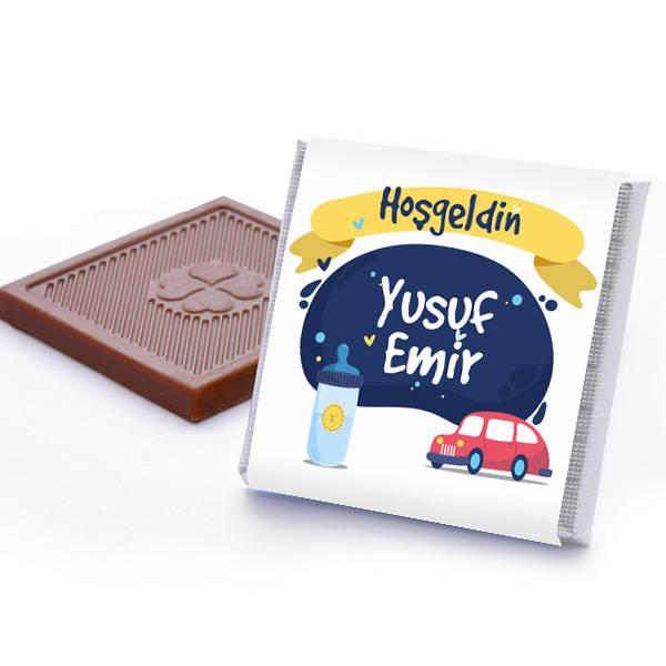 Erkek Bebeklere Özel Hoş Geldin Çikolatası