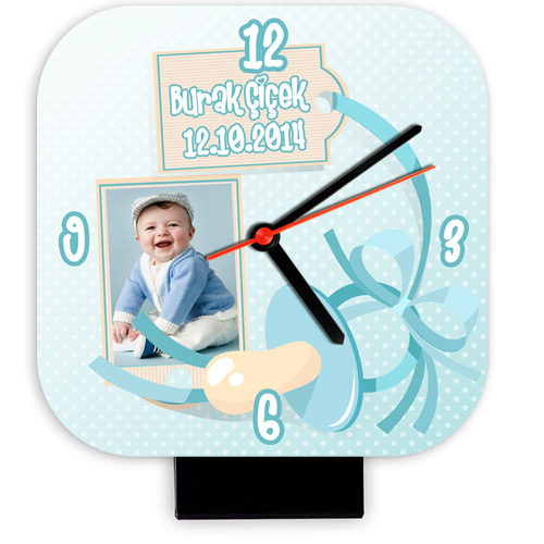 Erkek Bebeklere Özel Masa Saati