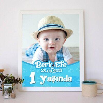 Erkek Bebeklere Özel Poster - Thumbnail