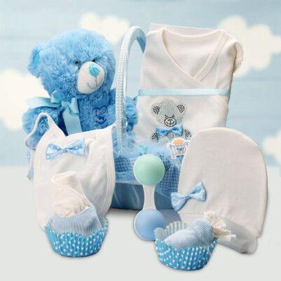 - Erkek Bebeklere Özel Şık Hediye Sepeti