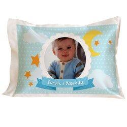 Erkek Bebeklere Özel Yaş Günü Yastığı - Thumbnail