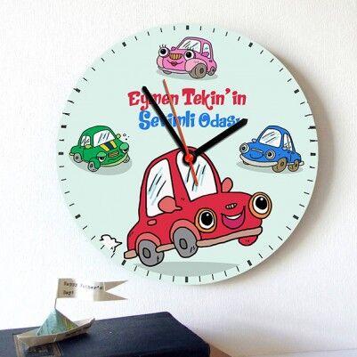 - Erkek Çocuklara Arabalı Duvar Saati