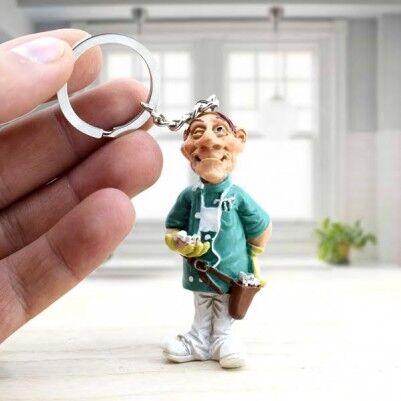 - Erkek Dişçilere Özel Anahtarlık