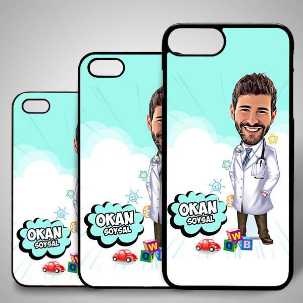 Erkek Doktor Karikatürlü Iphone Kapak
